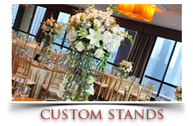 Custom wedding flowers stands